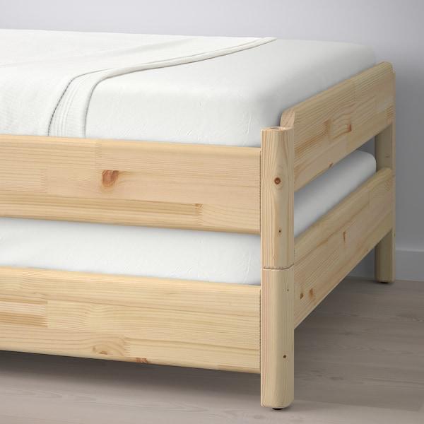 UTÅKER Stackable bed, pine, 80x200 cm