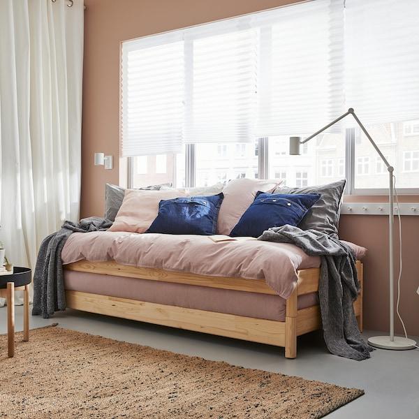 UTÅKER Stackable bed with 2 mattresses, pine/Malfors medium firm, 80x200 cm