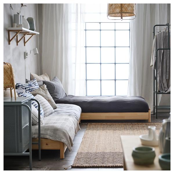 UTÅKER stackable bed with 2 mattresses pine/Malfors medium firm 46 cm 205 cm 83 cm 23 cm 2 pack 200 cm 80 cm