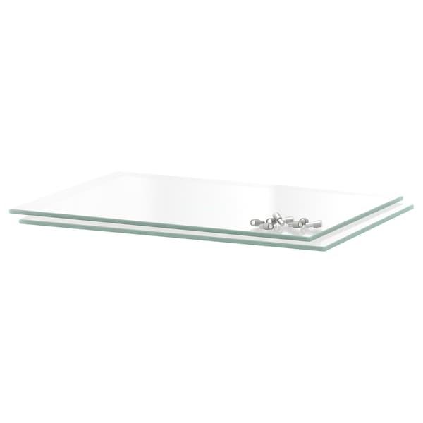 UTRUSTA Shelf, glass, 30x37 cm