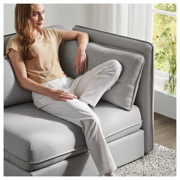 VALLENTUNA Sofa-bed module with backrests, Orrsta light grey