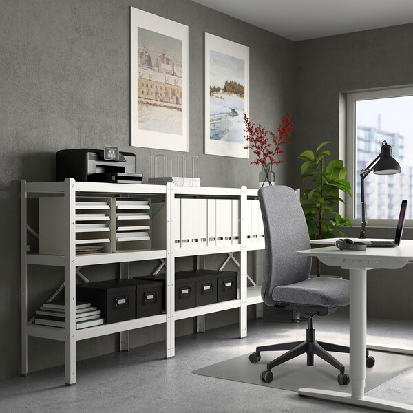 VALLFJÄLLET Office chair, Gunnared grey