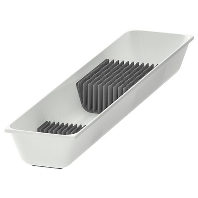 VARIERA Knife tray, white, 10x50 cm
