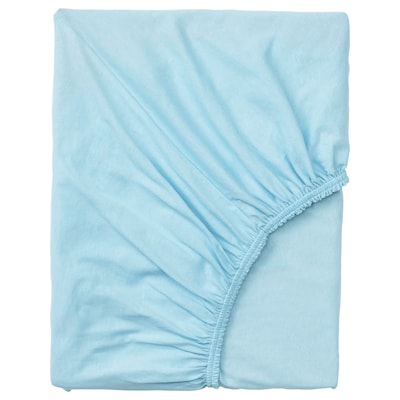 VÅRVIAL fitted sheet for day-bed light blue 200 cm 80 cm 16 cm