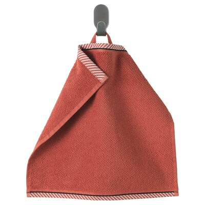 VIKFJÄRD Washcloth, red, 30x30 cm