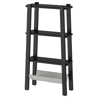 VILTO Shelving unit, black, 47x90 cm
