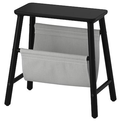 VILTO Storage stool, black, 45 cm