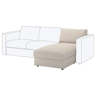 VIMLE Chaise longue section, Gunnared beige