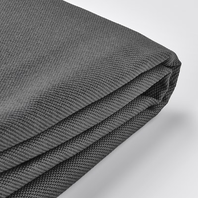 VIMLE Cover for 3-seat sofa, with headrest/Hallarp grey