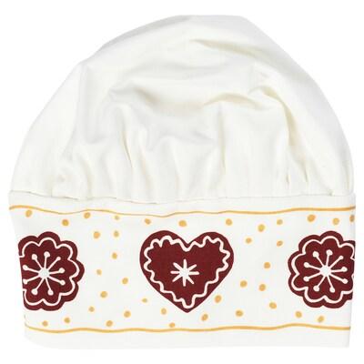 VINTER 2020 Children's hat, gingerbread pattern white/brown
