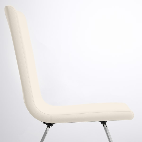 VOLFGANG Chair, chrome-plated/Bomstad white