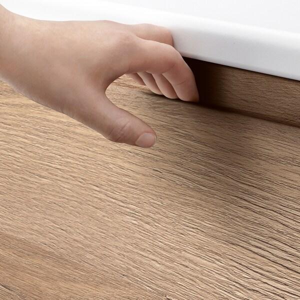 VOXTORP Front for dishwasher, oak effect, 45x80 cm