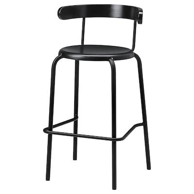YNGVAR Bar stool, anthracite, 75 cm