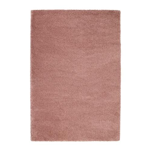 dum tapis poils hauts brun clair rose 133x195 cm ikea. Black Bedroom Furniture Sets. Home Design Ideas