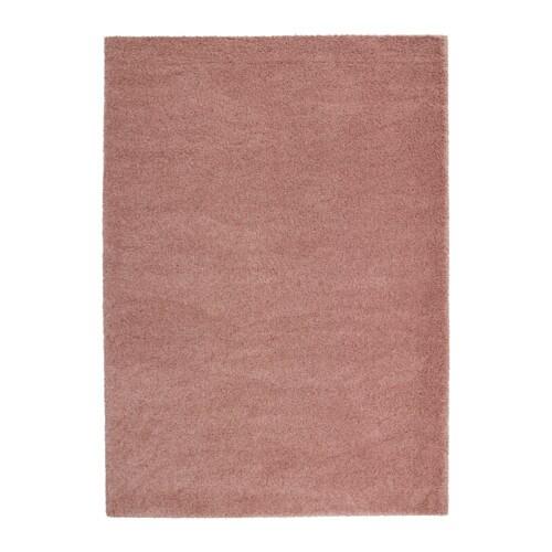 Dum tapis poils hauts brun rose clair 170x240 cm ikea - Tapis rose ikea ...