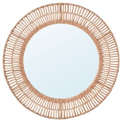 ÄNGLARP Miroir, rotin, 67 cm