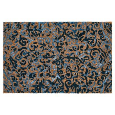 ÄNGSKLOCKA Paillasson, intérieur, naturel/bleu, 40x60 cm