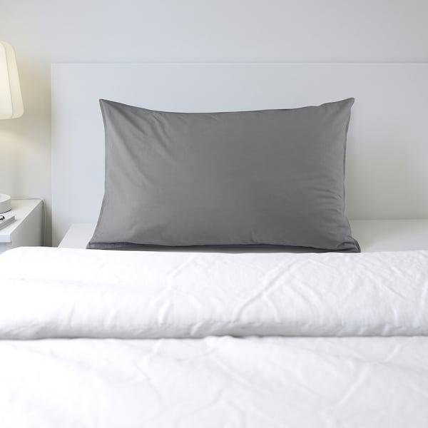 ÄNGSLILJA Taie d'oreiller, gris, 65x100 cm