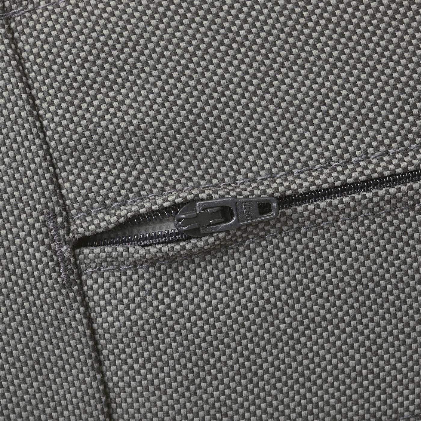 ÄPPLARÖ Fauteuil, extérieur, teinté brun/Frösön/Duvholmen gris foncé, 63x80x84 cm