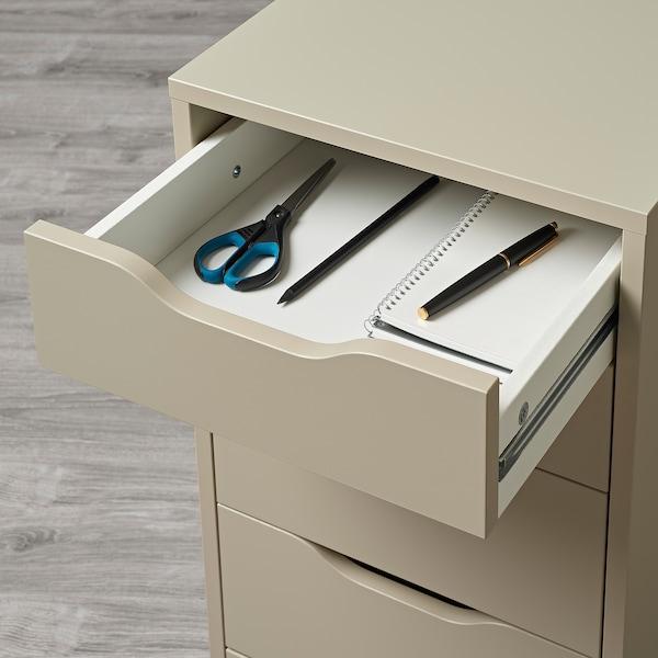 ALEX Caisson à tiroirs, beige, 36x70 cm