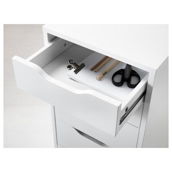 ALEX Caisson à tiroirs, blanc, 36x70 cm