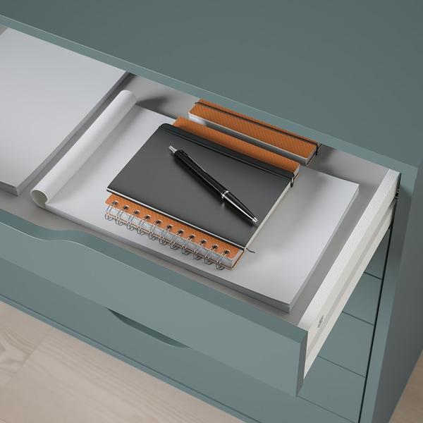 ALEX Caisson à tiroirs sur roulettes, gris turquoise, 67x66 cm