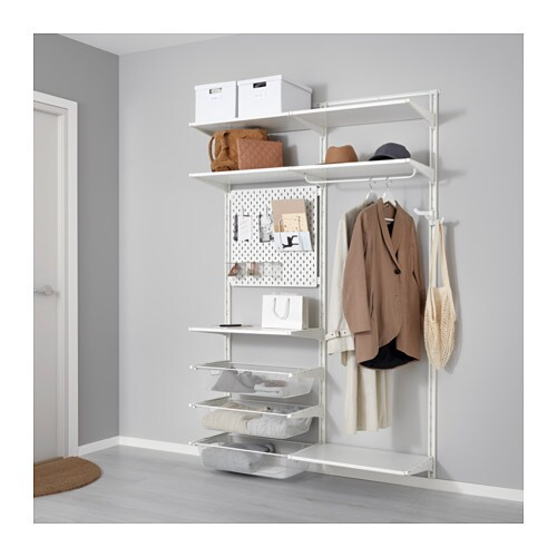 Algot sk dis cr maill re tablettes barre ikea - Systeme rangement cremaillere ...