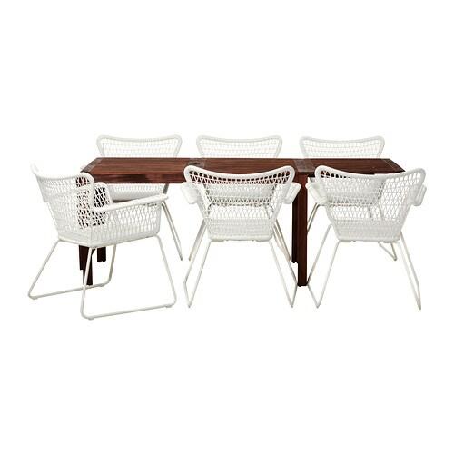 Pplar h gsten table 6 chaises accoud ext rieur ikea - Meuble exterieur ikea ...