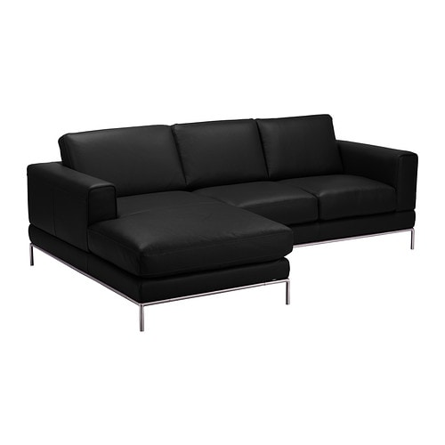 Arild canap 2 places m ridienne gauche bomstad noir ikea for Canape meridienne ikea