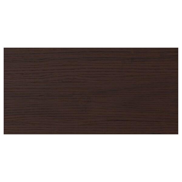 ASKERSUND Face de tiroir, brun foncé décor frêne, 40x20 cm