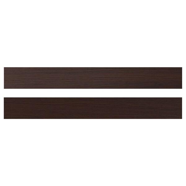 ASKERSUND Face de tiroir, brun foncé décor frêne, 80x10 cm