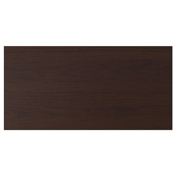 ASKERSUND Face de tiroir, brun foncé décor frêne, 80x40 cm