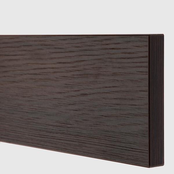ASKERSUND Face de tiroir, brun foncé décor frêne, 40x10 cm