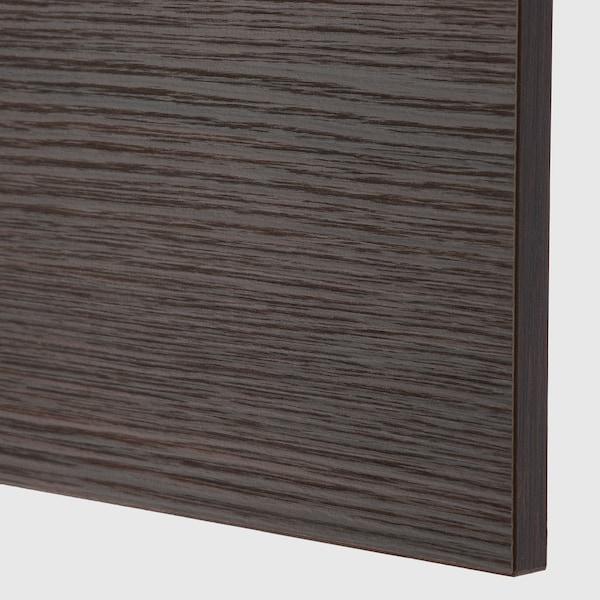 ASKERSUND Panneau latéral de finition, brun foncé décor frêne, 39x240 cm