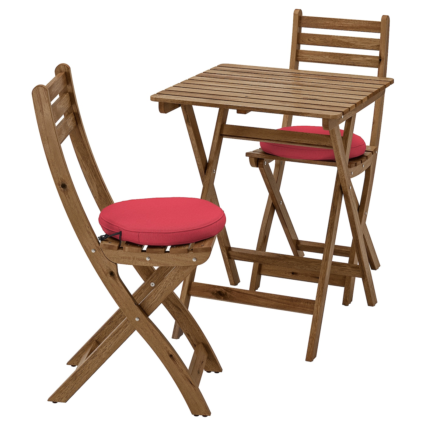 PliantesExtérieurTeinté Rouge Table2 Chaises Gris Askholmen BrunFrösönduvholmen nw8OvmN0