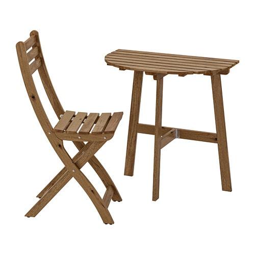 Askholmen Mur Gris Table Chaise PlianteExtTeinté 1 Brun Kc1JTlF3