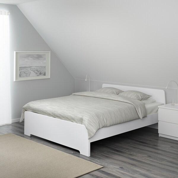 ASKVOLL Cadre de lit, blanc, 140x200 cm