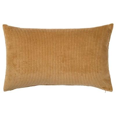 ÅSVEIG Housse de coussin, beige foncé, 40x65 cm
