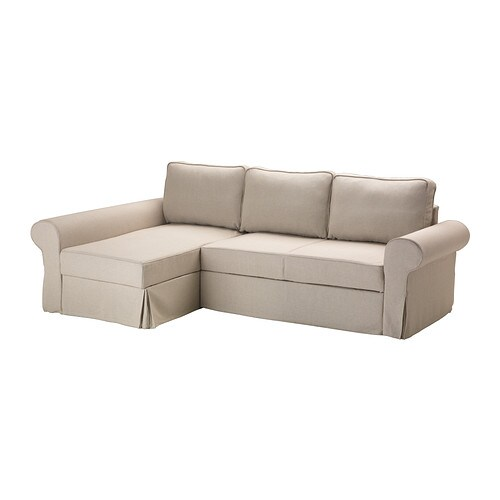 Backabro housse de convertible m ridienne risane cru ikea - Meridienne convertible ikea ...
