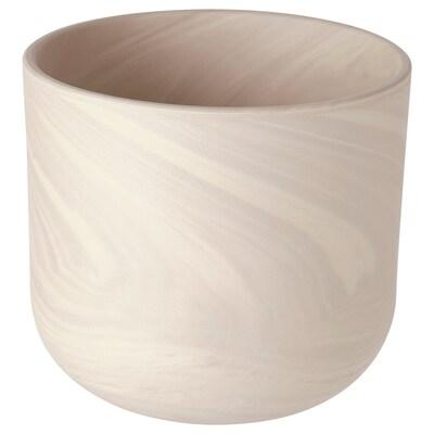 BACKSMULTRON Cache-pot, intérieur/extérieur beige/gris, 15 cm