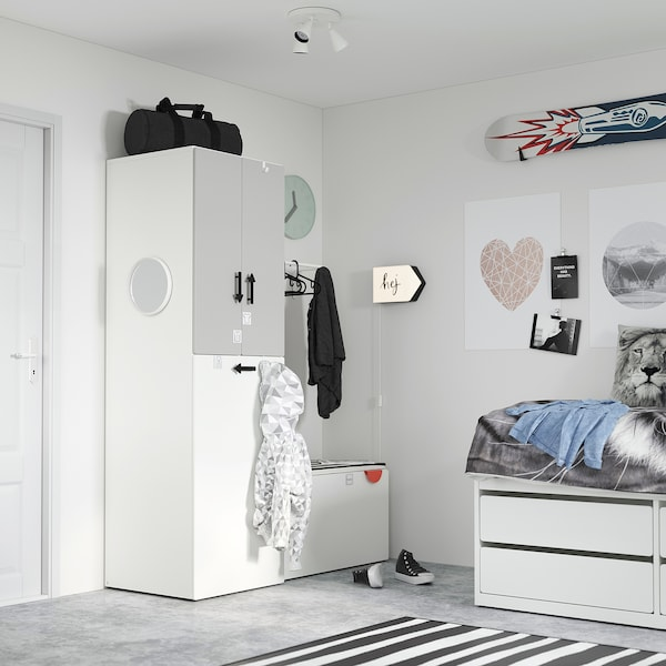BÄGAREN Applique à LED, flèche blanc/noir