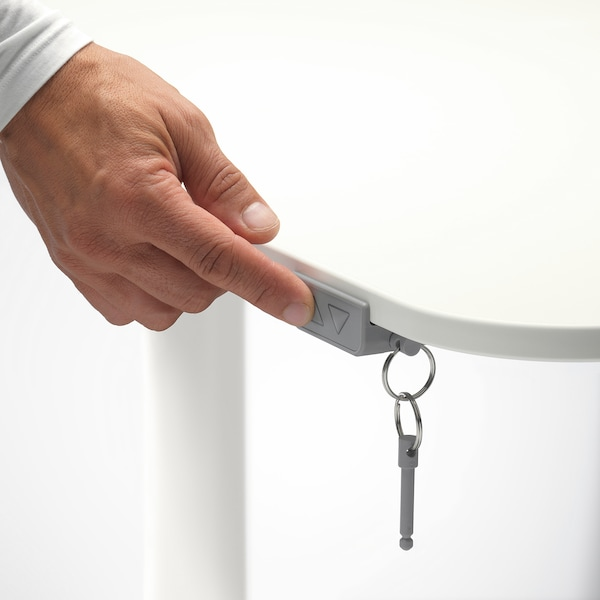 BEKANT Bureau assis/debout, blanc, 160x80 cm