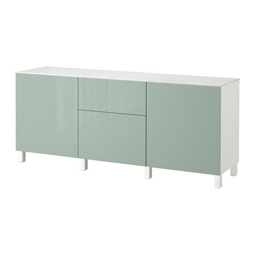 best combi rgt portes tiroirs blanc selsviken brillant gris vert clair glissi re tiroir. Black Bedroom Furniture Sets. Home Design Ideas