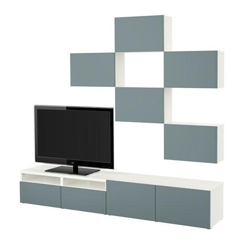 Meuble Tv Blanc : BestÅ Combinaison Meuble Tv – Blancvalviken Gris Turquoise