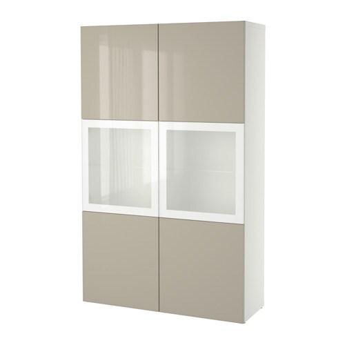 best combinaison rangement ptes vitr es blanc selsviken brillant beige verre givr ikea. Black Bedroom Furniture Sets. Home Design Ideas