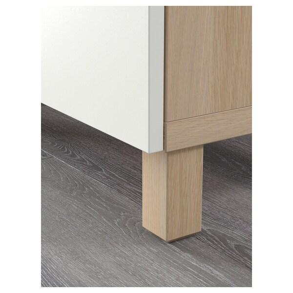 BESTÅ Combinaison rangement tiroirs, effet chêne blanchi/Lappviken blanc, 180x40x48 cm
