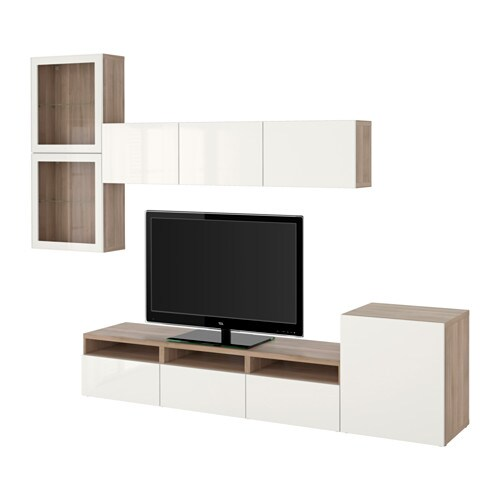 best combinaison rangt tv vitrines motif noyer teint. Black Bedroom Furniture Sets. Home Design Ideas