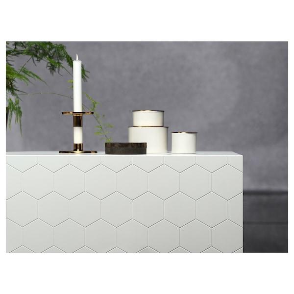 BESTÅ combinaison rangement portes effet chêne blanchi/Vassviken/Stubbarp blanc 180 cm 40 cm 74 cm