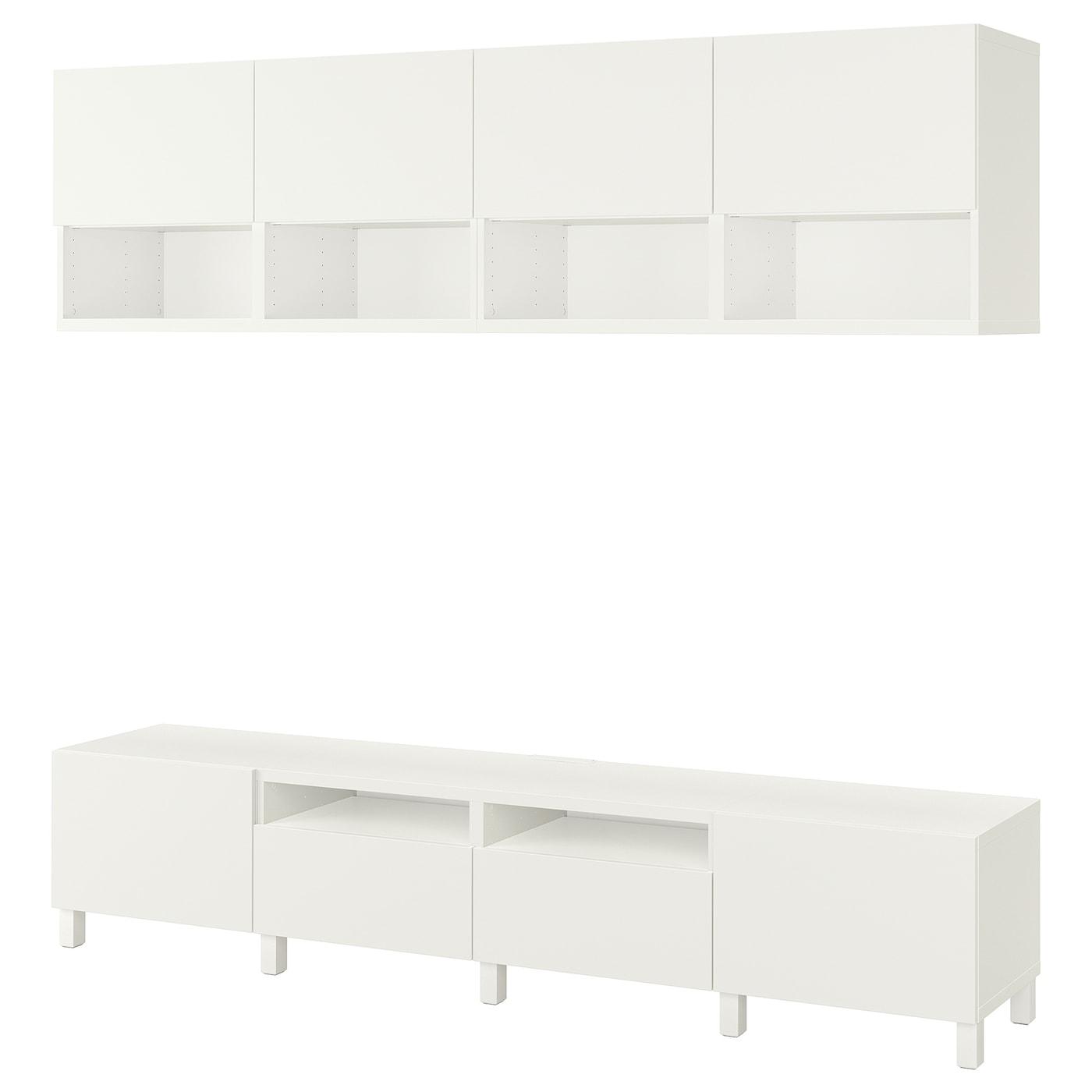 Best combinaison meuble tv blanc lappviken stubbarp Ensemble meuble tv ikea