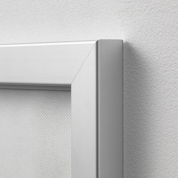 BJÖRKSTA Image avec cadre, Paix/couleur aluminium, 78x118 cm